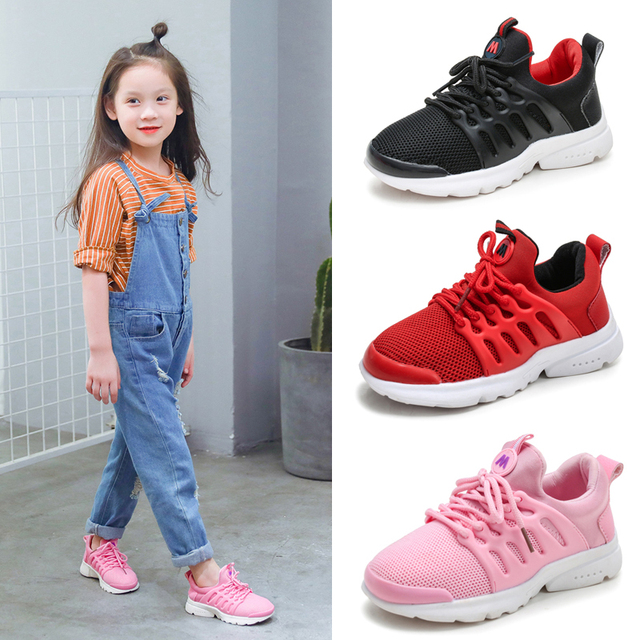 070af7e62c7a2 Kids Sport Sneaker Child Running Basketball Shoes Tenis Infantil Basket  Enfant Boys Girl Children Mesh Breathable Red Pink Black