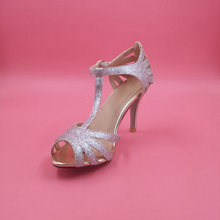 Silver / Gold Glitter Thin Heel Women Sandal Evening Party High Heels Shoes Women 2015 Peep Toe Criss Cross Summer Style