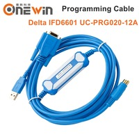 Compatible Delta HMI And TP Text Display Programming Cable IFD6601 UC PRG020 12A AH DVP Series PLC DOP B Series