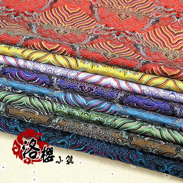 Woven damask silk satin costume hanfu formal dress baby clothes kimono cos clothes jacquard brocade fabric moir