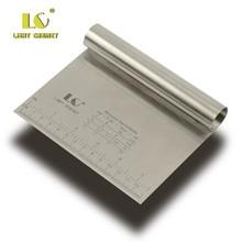 BEEMSK 1PCS Stainless Steel Metal Slicer Scraping Panel Dough Cutting Tool Powder Table Scribing Scale