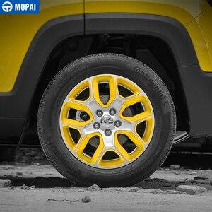 Image 4 - MOPAI Cubierta del Centro de volante para coche, cubierta de decoración, marco de pegatinas ABS para Jeep Renegade 2013 2018, accesorios exteriores, estilo de coche