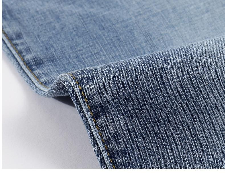 2020 Jeans Men Fashion Business Casual Straight Slim Fit Ultrathin Breathable Stretch Retro Blue Summer Denim Pants Plus Size 40 17