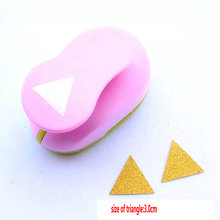 "free ship 1.5"" 3.0cm triangle craft punch DIY Paper Printing Card punch Scrapbook Shaper Large scale Embossing device Hole Punch"