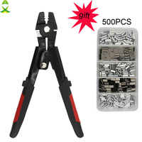 JSM High Carbon Steel Crimper Sleeves Tool Kit Wire Rope Swager Terminal Crimpers for fishing plier with Crimp Sleeves gift