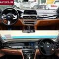 Für BMW 7 Series E65 F01 G11 G12 Leder Dashmat Dashboard Abdeckung Pad Dash Matte Sonne schatten 2002 2008 2009 2010 2012 2013 2014 2018