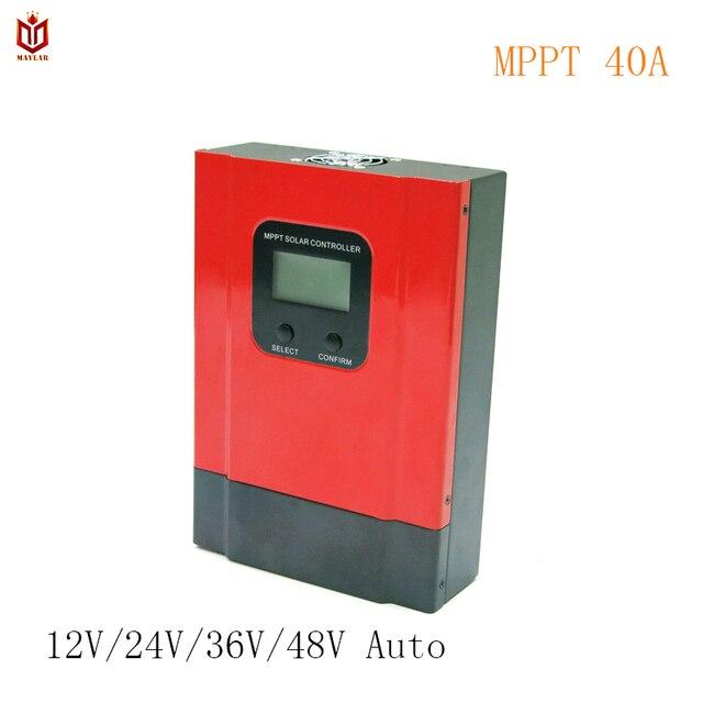 MAYLAR MPPT 40A Solar Charge Controller Esmart3 12V 24V 36V 48V Auto for Max. 150VDC Input off Grid PV Power System LCD Display