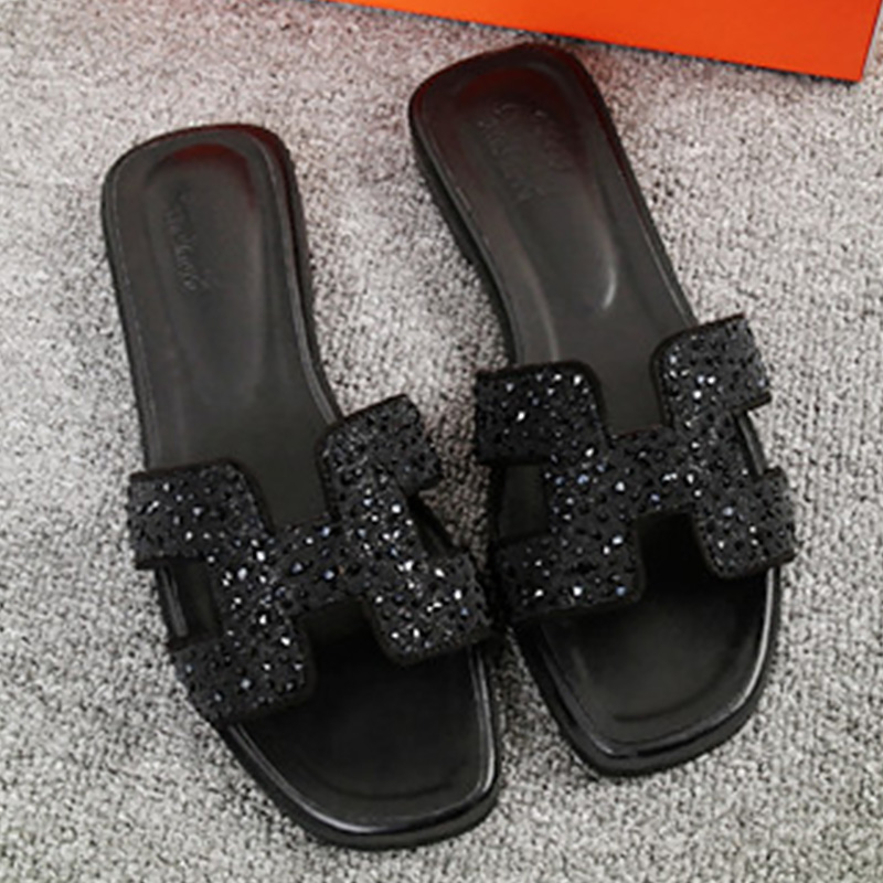 Beliebte Marke Frau Sommer Sandalen Komfortable Strand Flache Schuhe Crytal Sandale Nähen Schuhe Große Größe 40-43 Nicht Slip Alias 2019 Offiziell