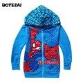 Retail Spiderman coats for children Clothes new 2014 Spring/autumn boys hoodie jackets child sweatshirt Kids clothing