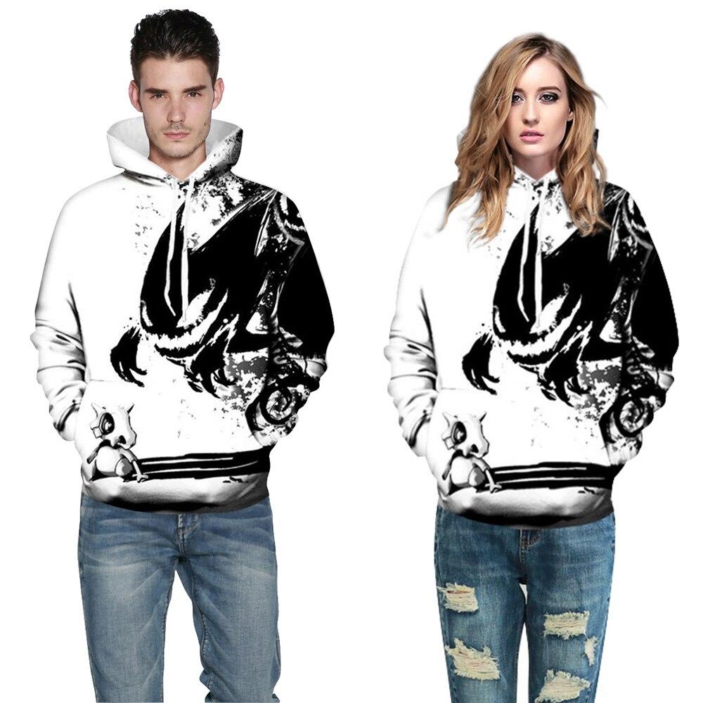 CFYH 2018 New Fashion Sweatshirts Men/Women 3d Hoodies Print Ink Skulls And Small Dragon Hooded Hoodies Thin Pullovers