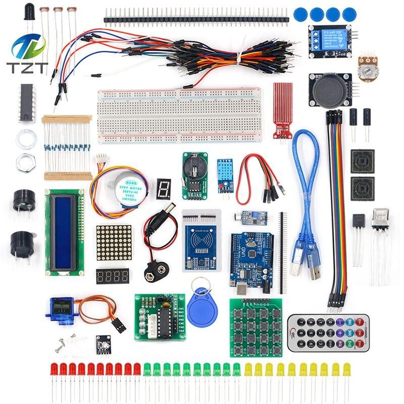 TZT новейший RFID стартовый набор для Arduino UNO R3 обновленная версия Обучающий набор с розничной коробкой