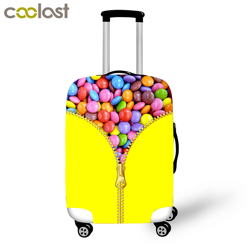 Candy Fruit Print Luggage Protective Covers Travel Accessories Elastic Anti-dust Siutcase Cover Trolley Case Cover