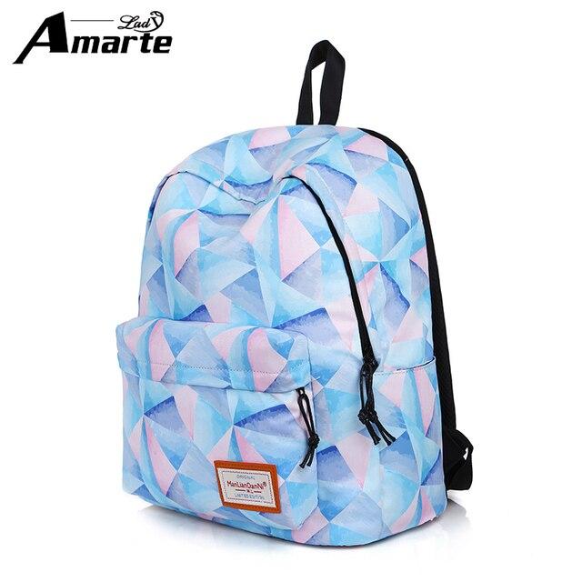 5758631eaa Amarte Women Backpacks 2017 New Fashion Casual Women Daypacks Preppy Girls  Big Capacity School Backpacks Waterproof