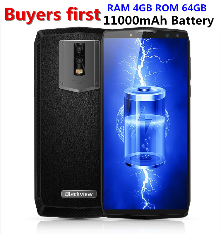 Blackview P10000 Pro 11000mAh Face ID 4G Mobile phone 5.99 RAM 4GB ROM 64GB 16MP MTK6763 Octa Core Android 7.1 OTG Smartphone