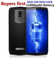 Blackview P10000 Pro 11000 мАч Лицо ID 4G мобильный телефон 5,99 ram 4 Гб rom 64 Гб 16MP MTK6763 Восьмиядерный Android 7,1 OTG Смартфон