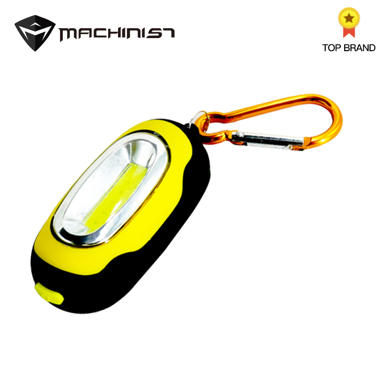 COB LED Flashlight Light 3-Mode Mini Lamp Key Chain Ring Keychain PVC Lamp Torch Keyring Repair lights With magnet battery(China)