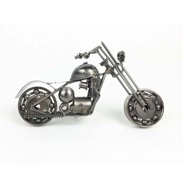 Mettle Handmade Iron Motorcycle Motor Van Model Motorcycle Enthusiast  Necessary Hotel Wineshop Public House Tavern Furniture