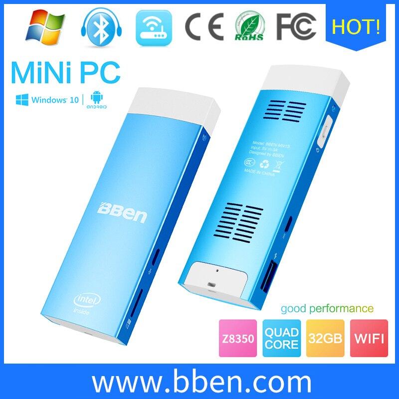 BBen Mini PC Palillo de Sistema de Windows 10 y Android 5.1 UNID Dual os Intel Z