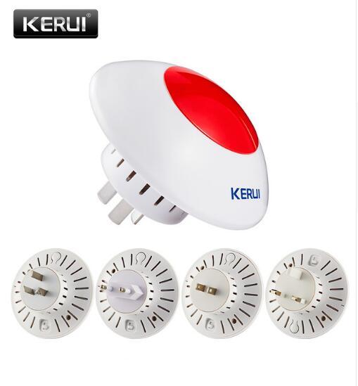 Big discount Wireless 433Mhz indoor strobe Flash Siren for Kerui Series GSM Alarm System for gsm alarm system wireless indoor siren with flash