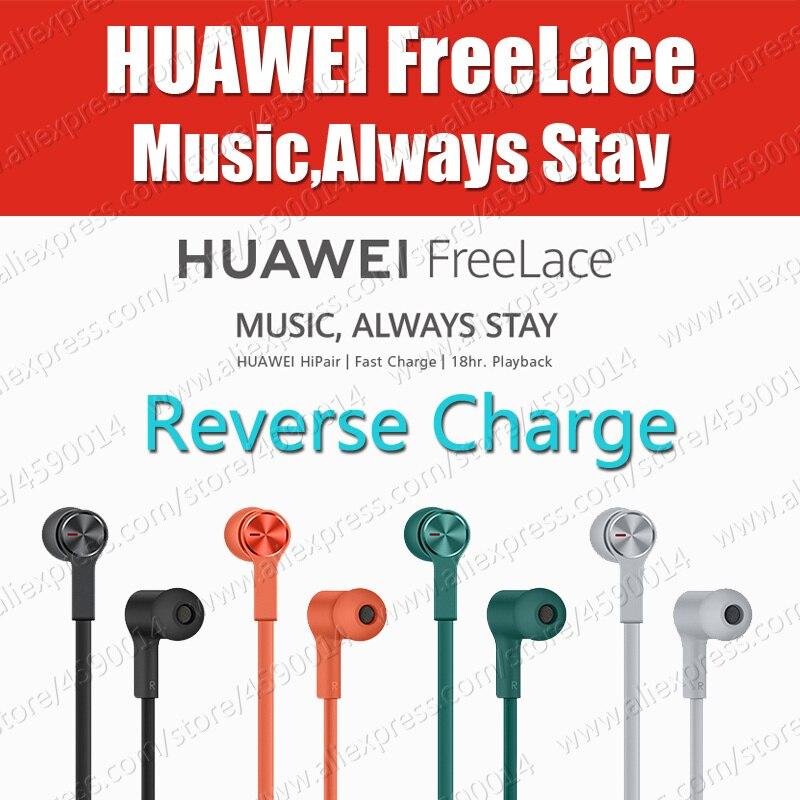 Em Estoque Huawei FreeLace HiPair Esporte Fones De Ouvido Bluetooth sem fio fone de Ouvido de Autoliquidação P30 Pro IPX5 Interruptor Magnético