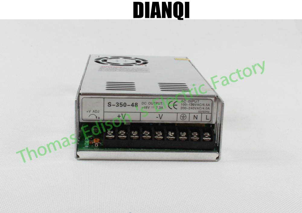 DIANQI led power supply switch 350W  48v  7.3A ac dc converter  S-350w  48v variable dc voltage regulator S-350-48 20pcs 350w 12v 29a power supply 12v 29a 350w ac dc 100 240v s 350 12 dc12v