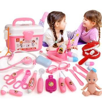 39/21 PCS Kids Play Arts Spel Speelgoed Set Kinderen Cosplay Artsen Vocale Licht Stethoscoop Speelgoed Simulatie Medische Apparatuur TY0332