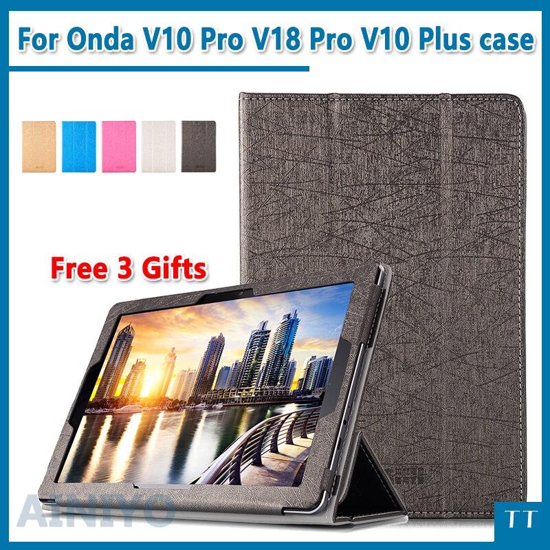Para Onda V10 pro V18 pro V10 Mais caso de Alta qualidade moda case capa para Onda V10pro V18pro 10.1
