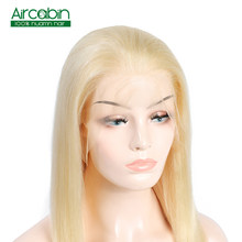 Blonde Lace Front Wig 613 Human Hair Wigs For Black Women Brazilian Hair 12 - 24 inch Remy Straight Hair Extension Aircabin Hair(China)