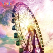 Yeele Wallpaper Bedroom Colorful Sky Ferris wheel Photography Backdrops Personalized Photographic Backgrounds For Photo Studio