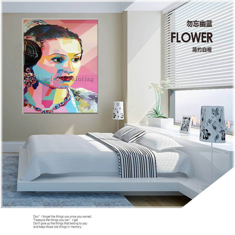 New Realistic Paintings Handmade Portrait Painting Modern Paintings On  Canvas Hang Picture Home Decor Character Oil Painting In Painting U0026  Calligraphy From ...