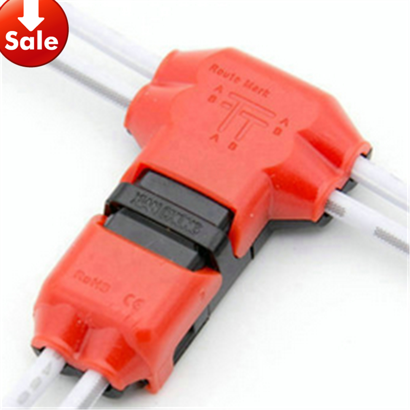 5 PCS 2 Pin DC AC 300v 10a18 24awg 2 Way Easy Fit no welding no