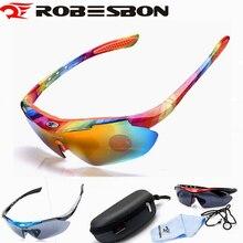 ROBESBON Outdoor Sports Cycling Glasses MTB Road Bike Cycling Sunglasses UV400 Bicycle Driving Fishing Goggle Eyewear