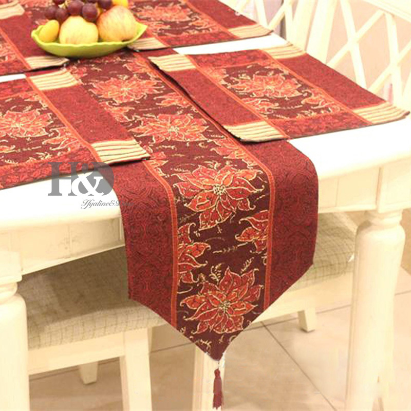 Antique Vintage Flower Tapestry Wedding Bed Table Runner Table Cloth Dining  Mat Restaurant Hotel Placemat Table Wedding Decor In Table Runners From  Home ...