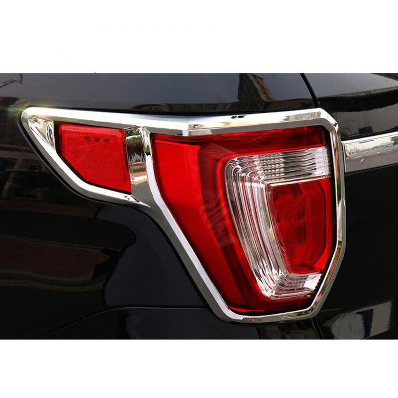Brand New For Ford Explorer 2016 2PCS High Quality ABS Chrome Car Tail Light Frame Cover Trim Car Styling Accessories