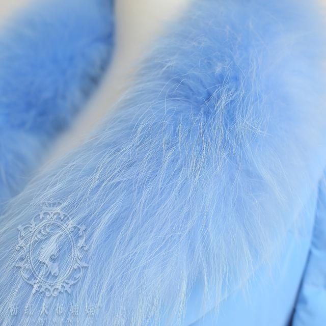 Original 2016 Brand Womens Winter Jackets and Coats Real Fur Collar Double Breast Slim Elegant Long Women Down Parka Wholesal