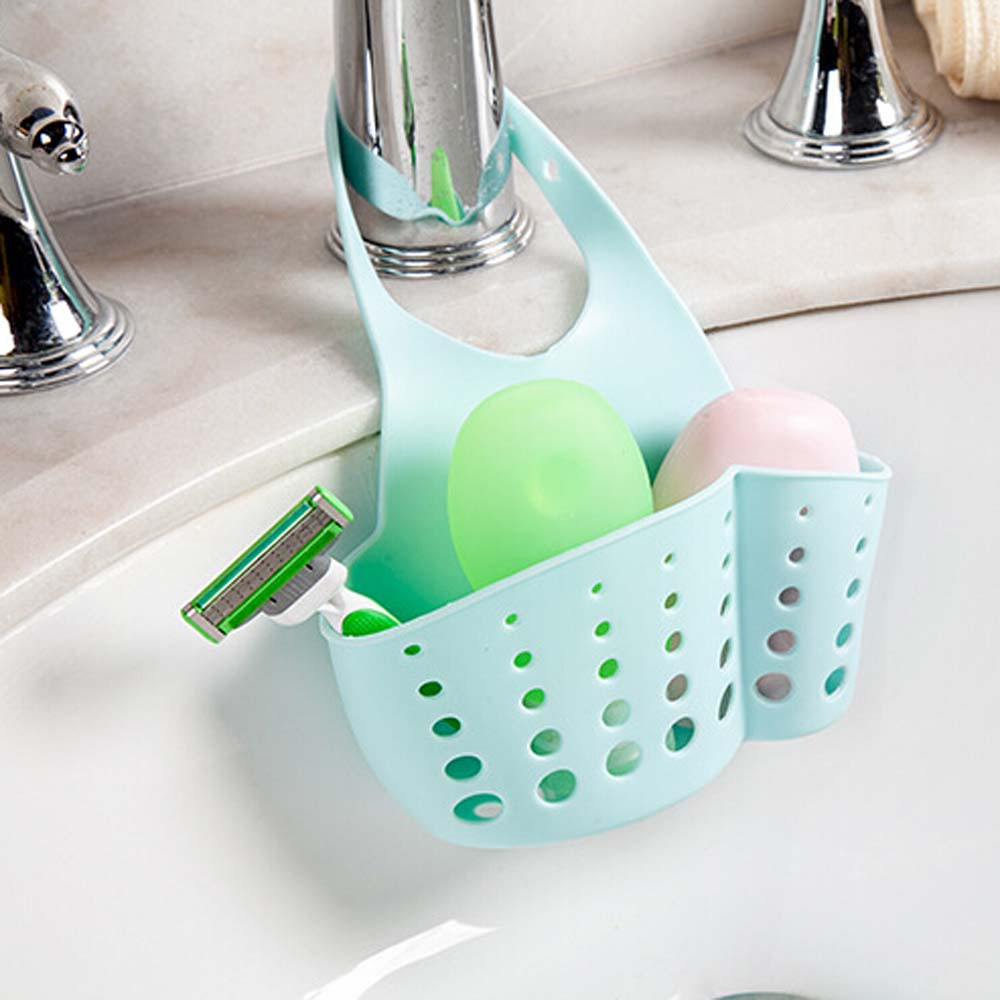 Sink Dish Drying Drainer Bathroom Bag Double Suction Cup Kitchen ...