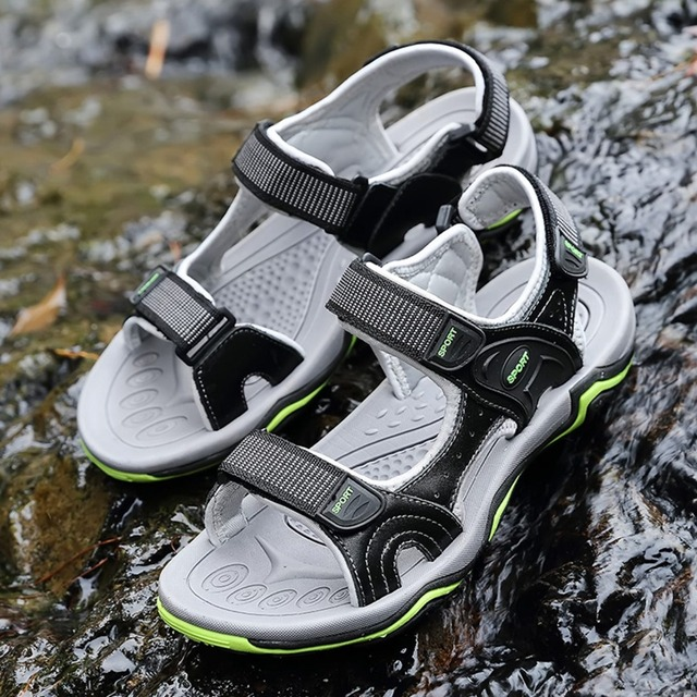 Men Sandals Fashion Summer Genuine Leather Casual Shoes Classic Style Male Sandals Breathable Summer Shoes for Men Sandals
