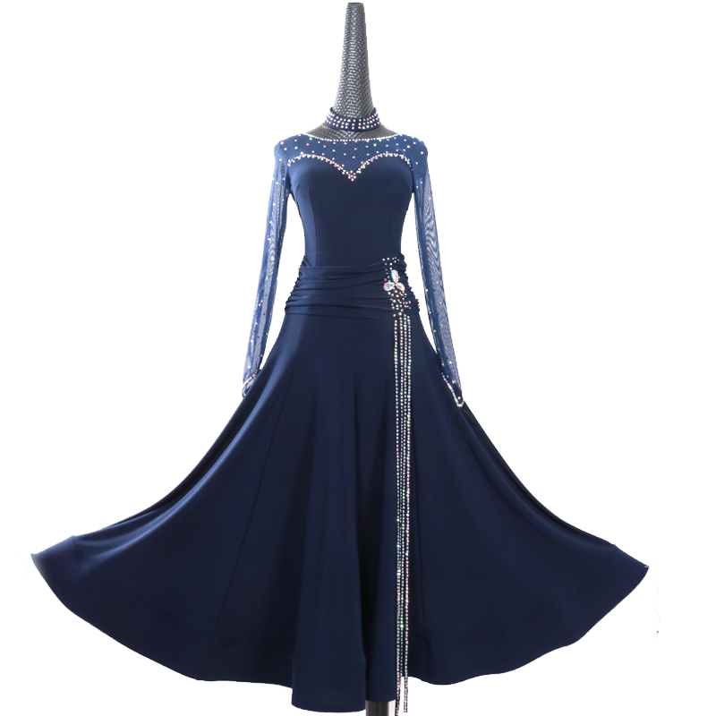 Ballroom Dancing Dress Newest Design Woman Modern Waltz Tango Dance Dress standard Ballroom Competition Costume purple