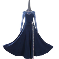 Ballroom Dancing Dress Newest Design Woman Modern Waltz Tango Dance Dress/standard Ballroom Competition Costume purple LXT564