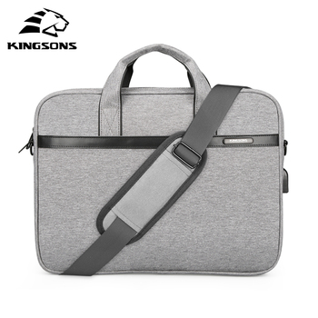 Kingsons Waterproof High Quality Laptop Handbag for 12 13 14 15 Inch