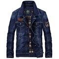 2016 осенью новый джинсовый верхняя одежда куртки плюс размер мужская одежда тонкий тонкий топ старинные джинсовый жакет мужской
