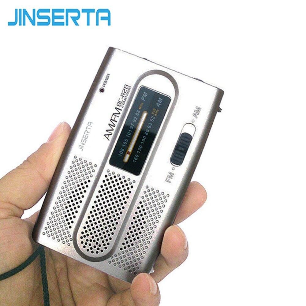 JINSERTA 2018 Mini Portable Telescopic Antenna Radio AM/FM For Pocket World Receiver Speaker 5pcs pocket radio 9k portable dsp fm mw sw receiver emergency radio digital alarm clock automatic search radio station y4408