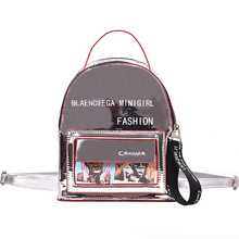 Clear transparent laser women backpacks for school mini fashion bags ladies luxury 2019 crossbody high quality student bag