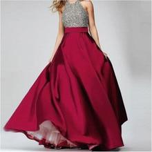 Elegant Burgundy Cao Eo Satin Dài Váy Tầng Chiều Dài Trang Phục Chính Thức Buổi Tối Prom Bên Váy Maxi Váy Tùy Chỉnh Tất Cả Các Màu Sắc Miễn Phí