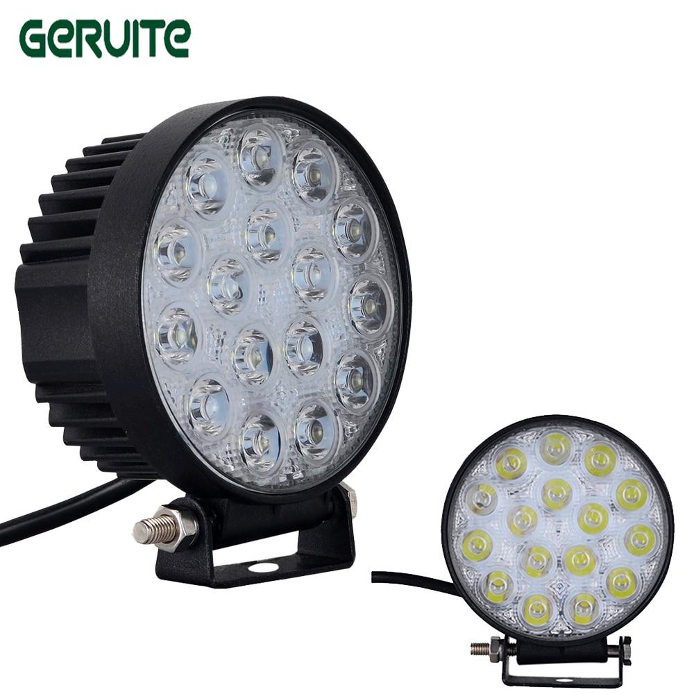 48W LED Work Light Waterproof Off road Boat Truck Tractor LED Driving Light Flood Beam Spotlight Car Headlight Round fog light