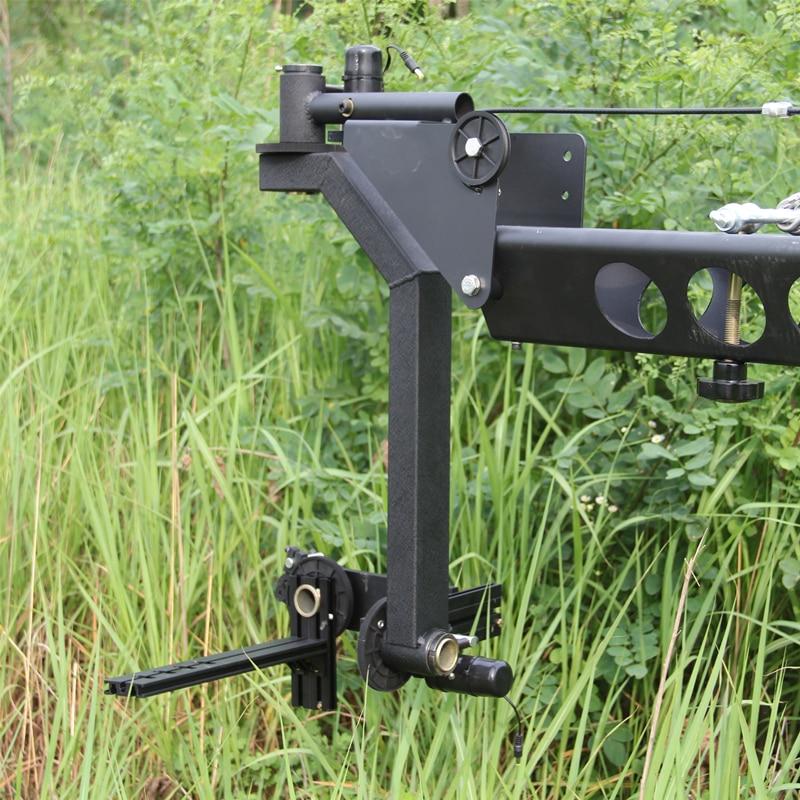 Contrôle DV contrôleur professionnel DV caméra grue Jib 10 m carré pour caméra vidéo filmant avec tête motorisée 3 axes