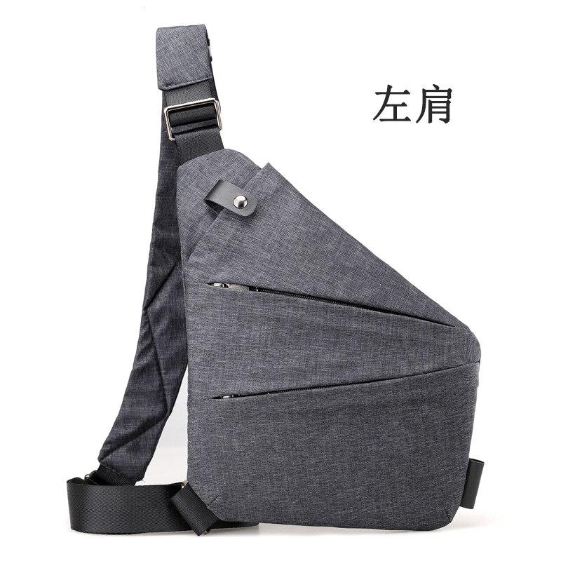 c399246dddf Men 's chest bag popular new canvas men travel small bag multi - functional  satchel crossbody shoulder bag simple boys hand bag