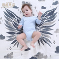 95*125cm angel wings organic cotton yarn cloth towel baby baby blanket wrap newborn baby napkin