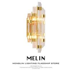 Led lampy kryształowe ściany kinkiety luminaria oświetlenie domu salon nowoczesne ściany światła abażur do łazienki