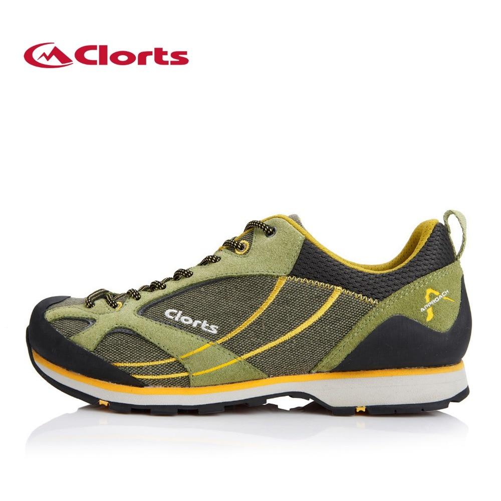 ФОТО Clorts 2016 Men Hiking Shoes Cow Suede Waterproof Outdoor Sports Shoes Non-slip Climbing Shoes 3E003A/B